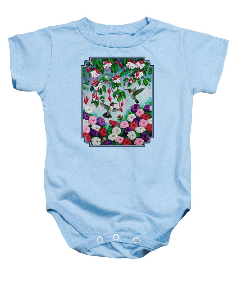 Floral Garden Baby Onesies
