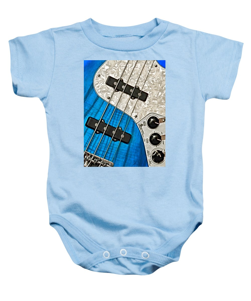 Guitar Baby Onesie featuring the photograph Blues Bass by William Jobes
