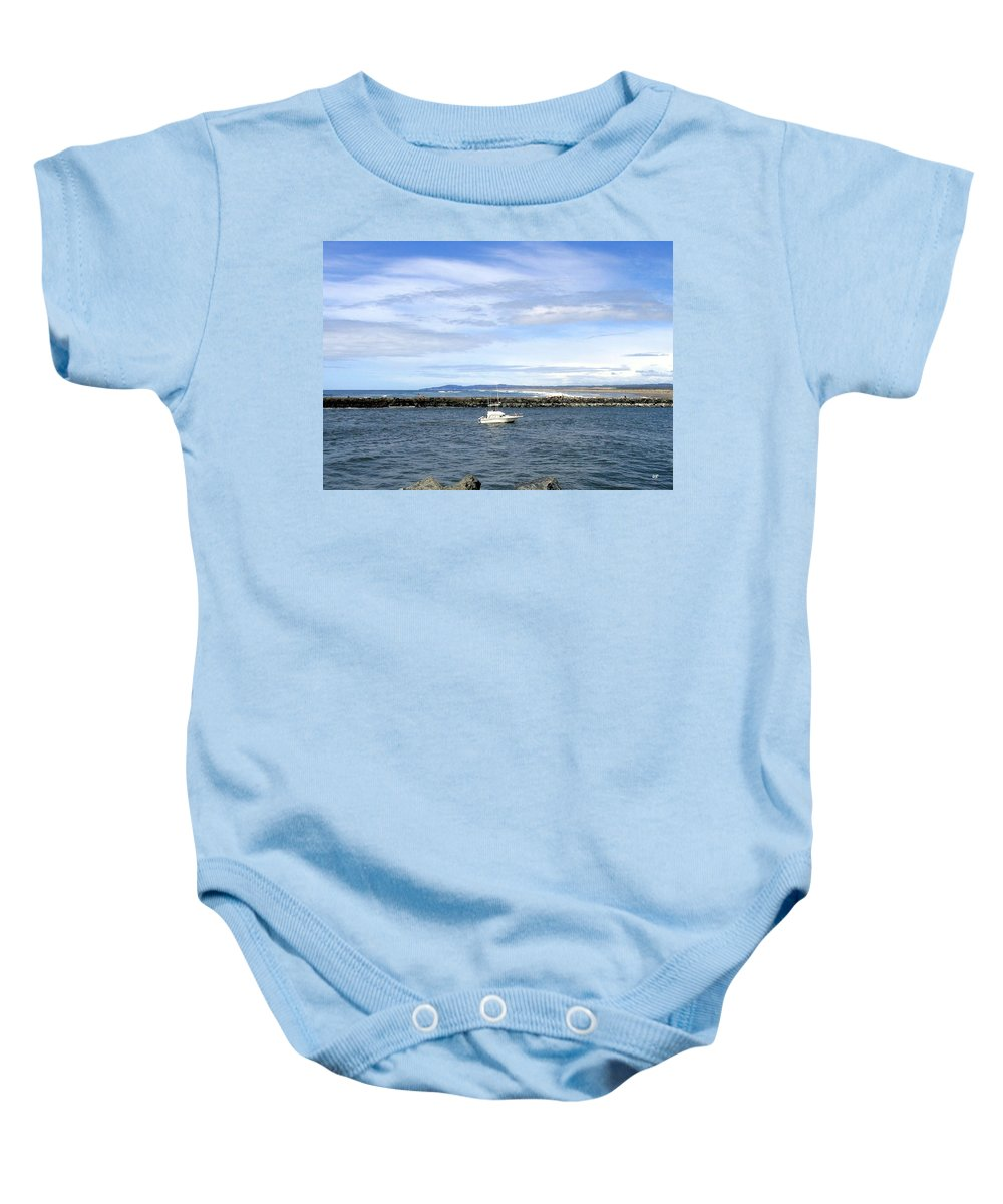 Boat Baby Onesie featuring the photograph Boating At Bandon by Will Borden