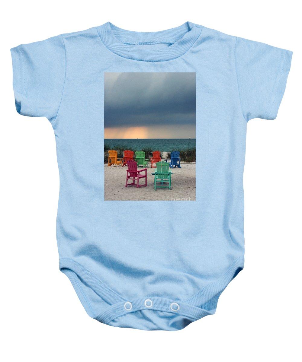Boca Grande Baby Onesie featuring the photograph Boca Grande by Kathy DesJardins