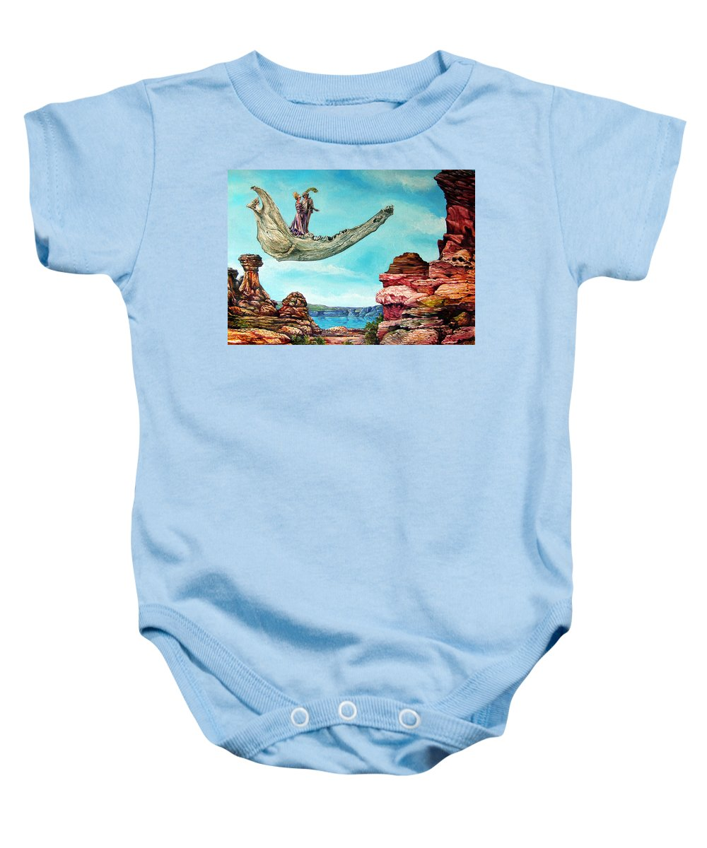 Painting Baby Onesie featuring the painting Bogomils Journey by Otto Rapp