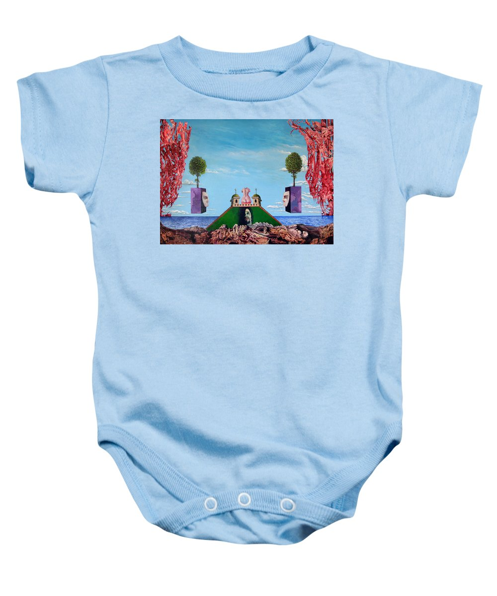 Painting Baby Onesie featuring the painting Bogomils Monastic Retreat by Otto Rapp