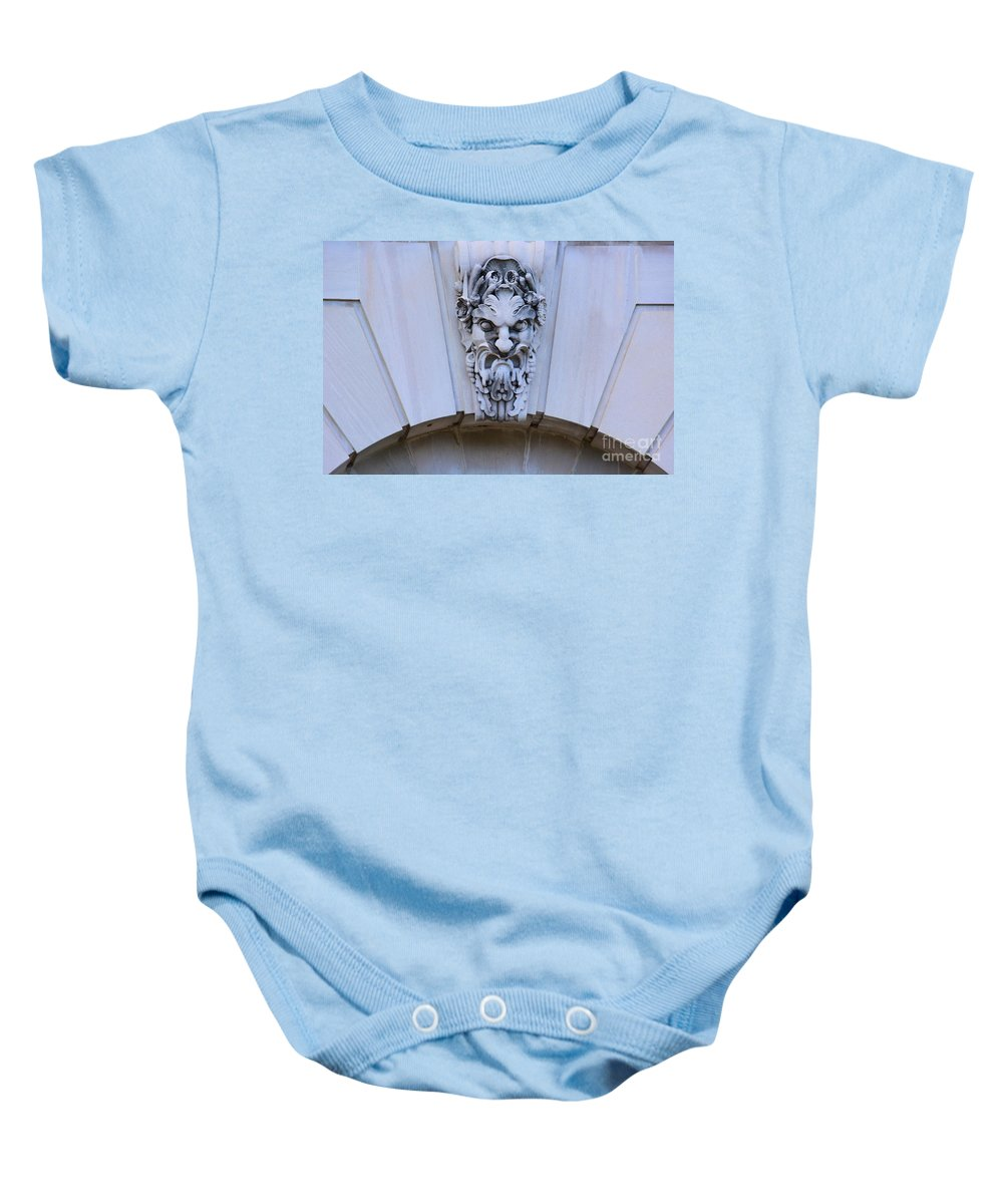 Face Baby Onesie featuring the photograph Botanical Garden Building by Katherine W Morse