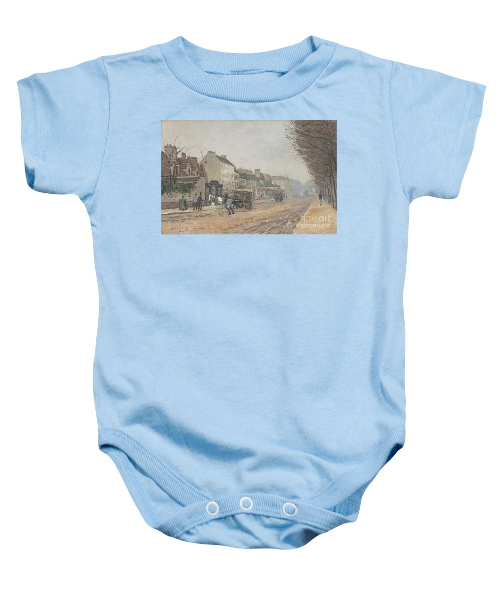 Baby Onesie featuring the painting Boulevard H?lo?se, Argenteuil by Alfred Sisley