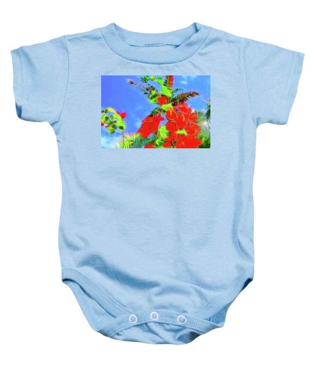 Bougainvillea Baby Onesie featuring the photograph Bougainvillea Glow by Kay Brewer