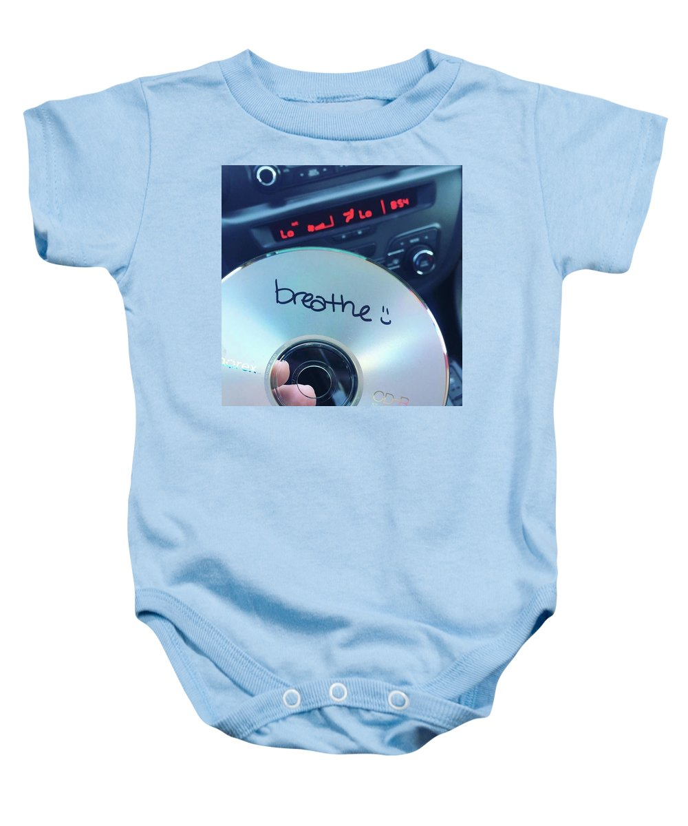 Breathe Baby Onesie featuring the photograph Breathe Mix Cd by Claire Kenney