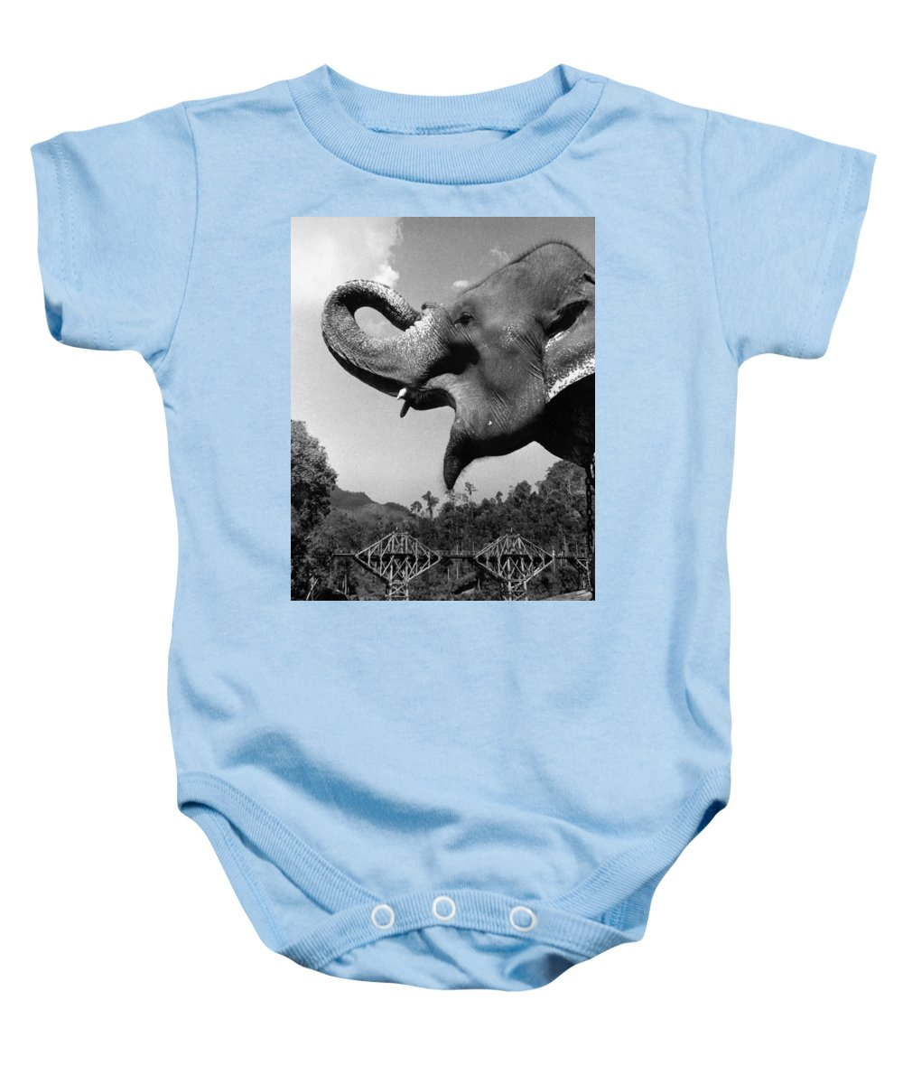 1957 Baby Onesie featuring the photograph Bridge On The River Kwai by Granger