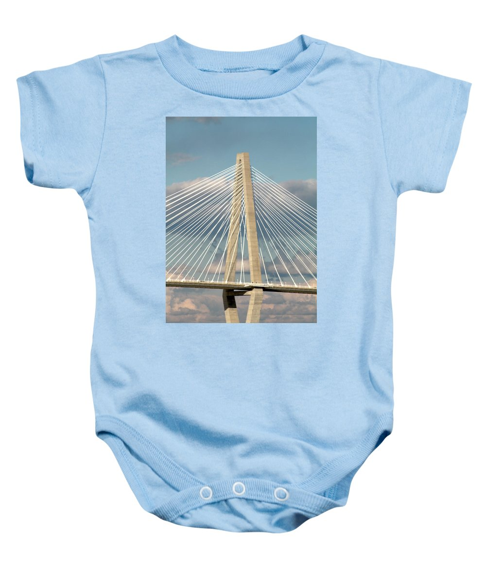 Baby Onesie featuring the photograph Bridge by Teresa Doran