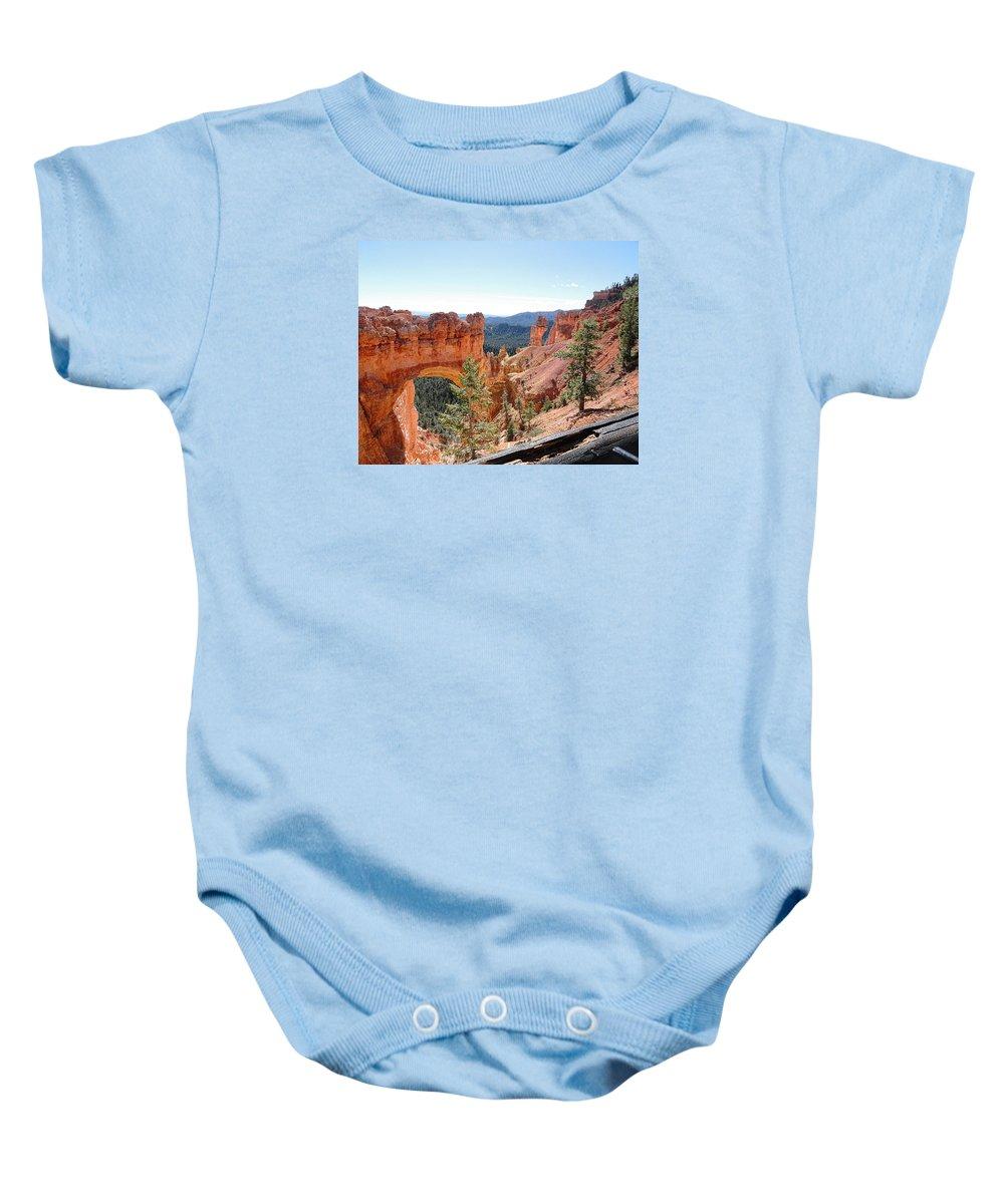 Natural Bridge Baby Onesie featuring the photograph Bryce Canyon Natural Bridge - Utah by TN Fairey