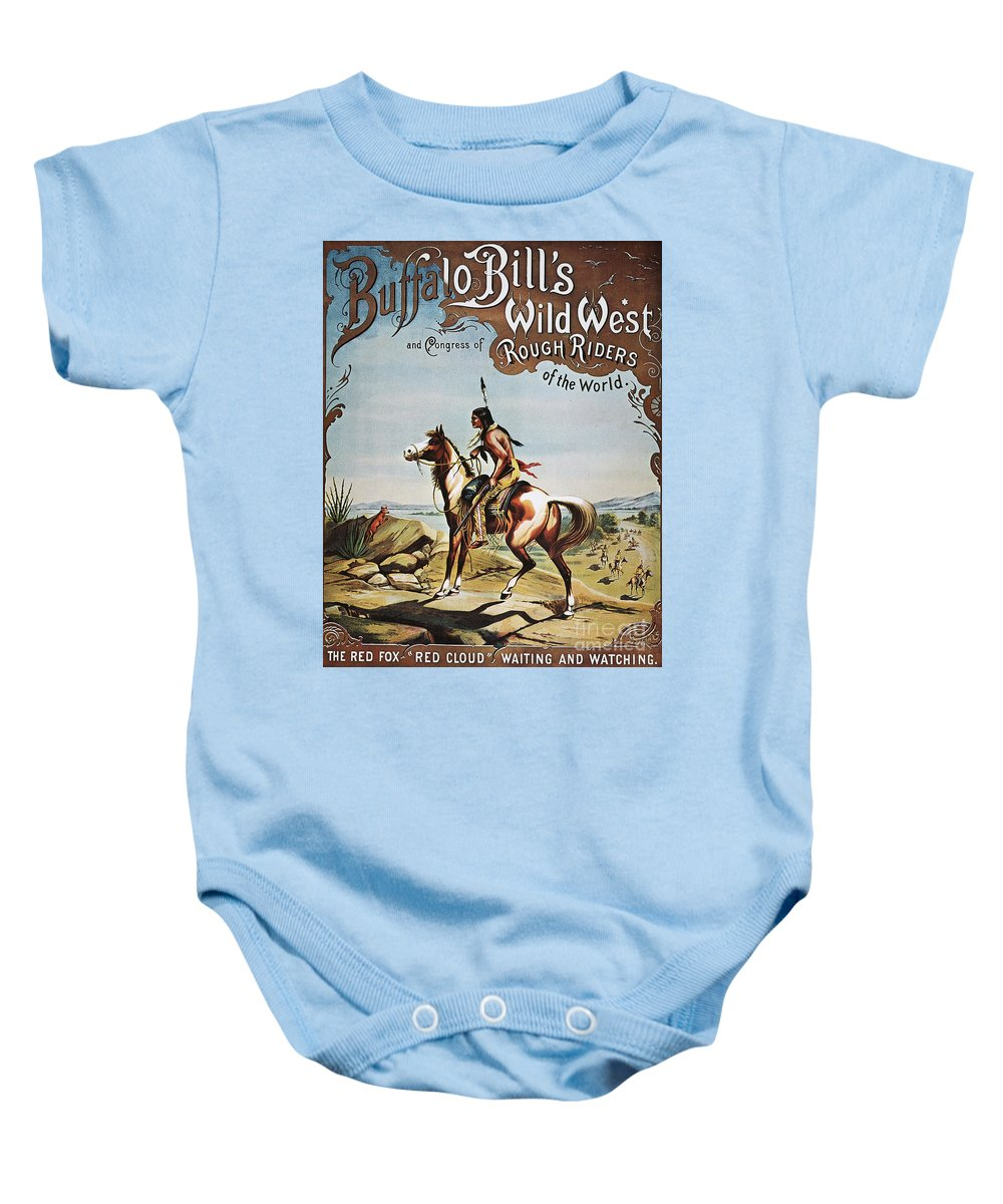19th Century Baby Onesie featuring the photograph Buffalo Bills Show Poster by Granger