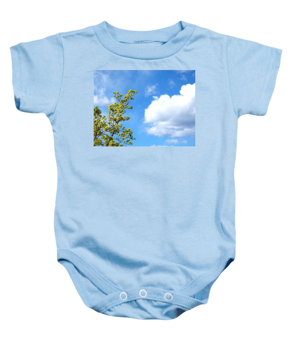 Bursting With New Life Baby Onesie featuring the photograph Bursting With New Life by Will Borden