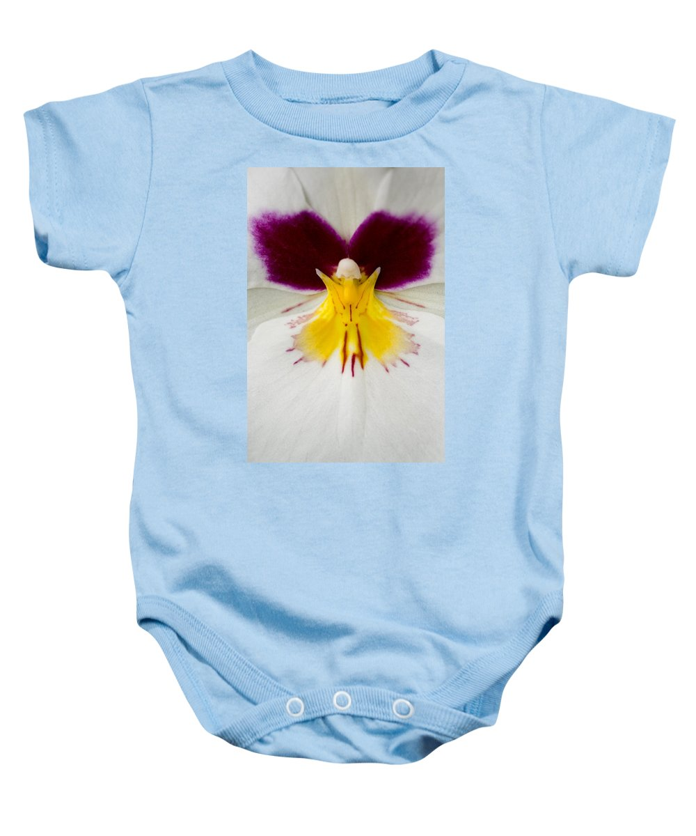 Orchid Baby Onesie featuring the photograph Butterfly by Karen Ulvestad
