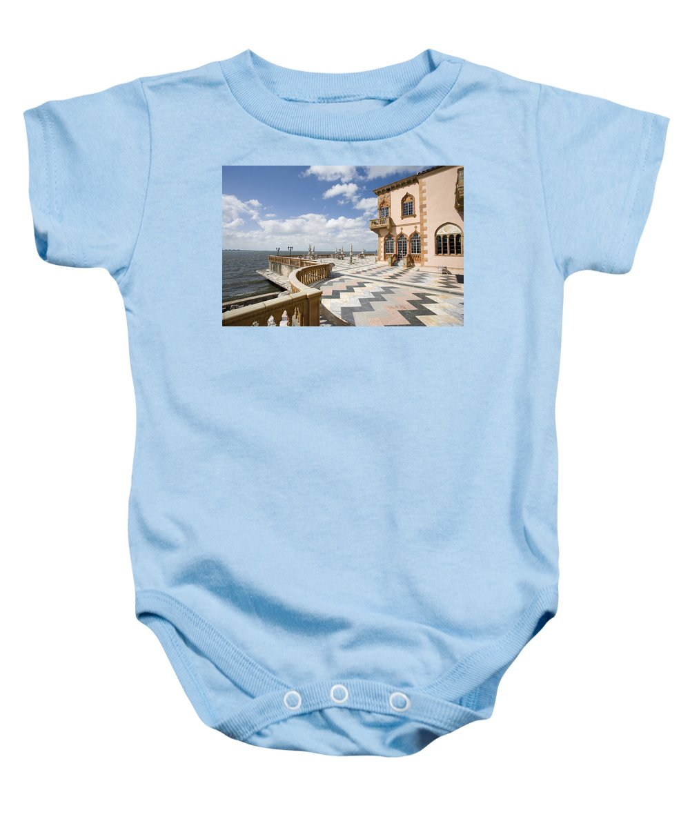 Ringling Baby Onesie featuring the photograph Ca D'zan Mansion Sarasota by Mal Bray