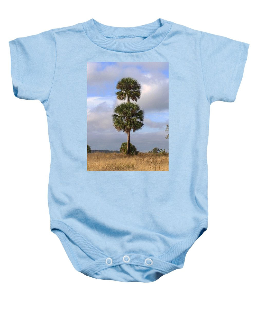 Nature Baby Onesie featuring the photograph Cabbage Palms by Peg Urban