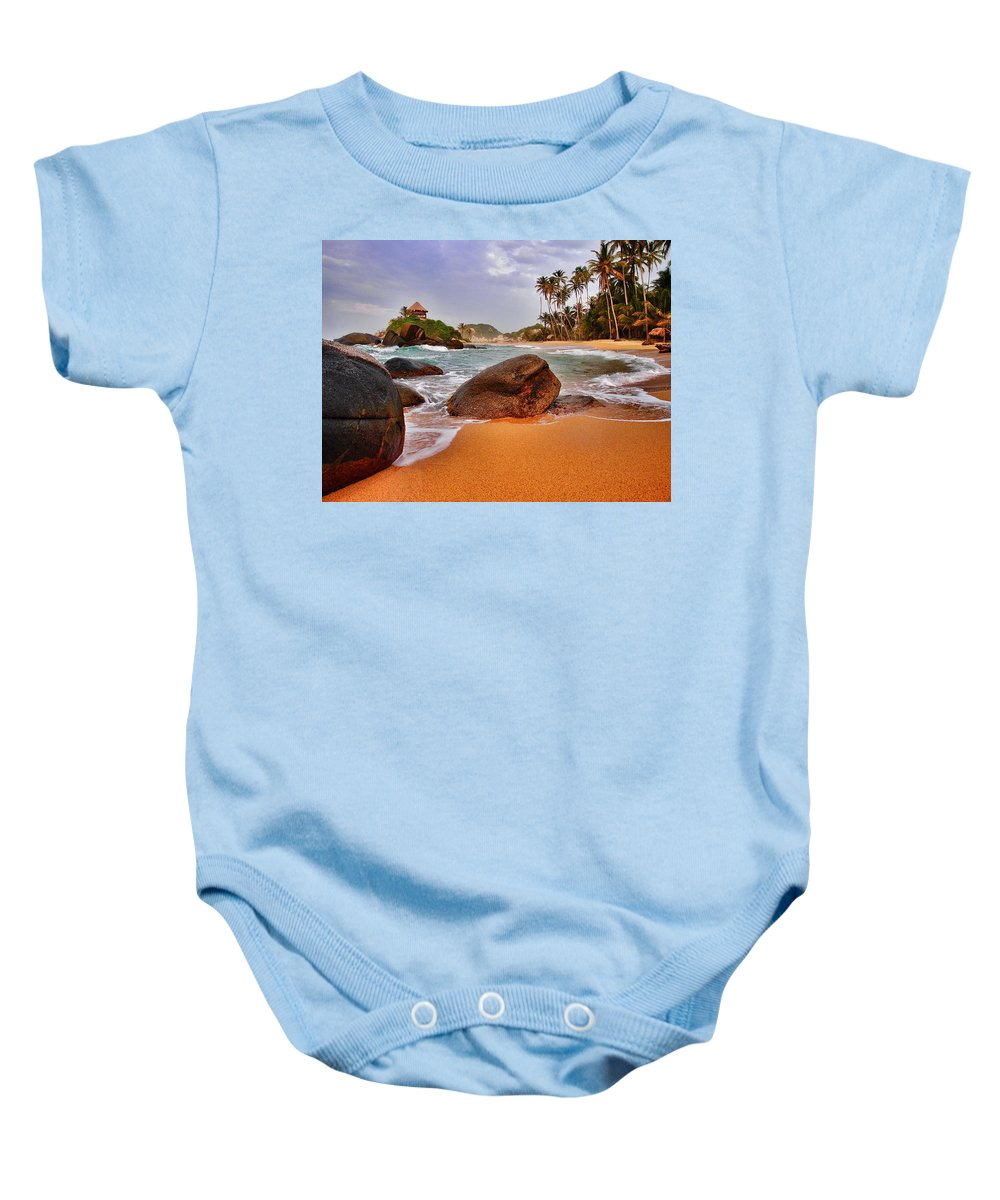 Cabo San Juan Baby Onesie featuring the photograph Cabo San Juan by Skip Hunt