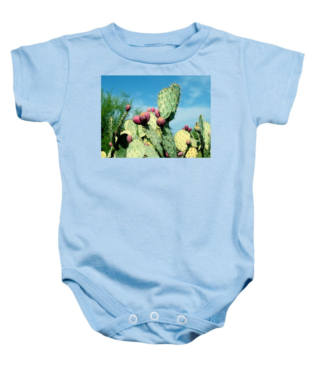 Cactus Baby Onesie featuring the photograph Cactus by Wayne Potrafka