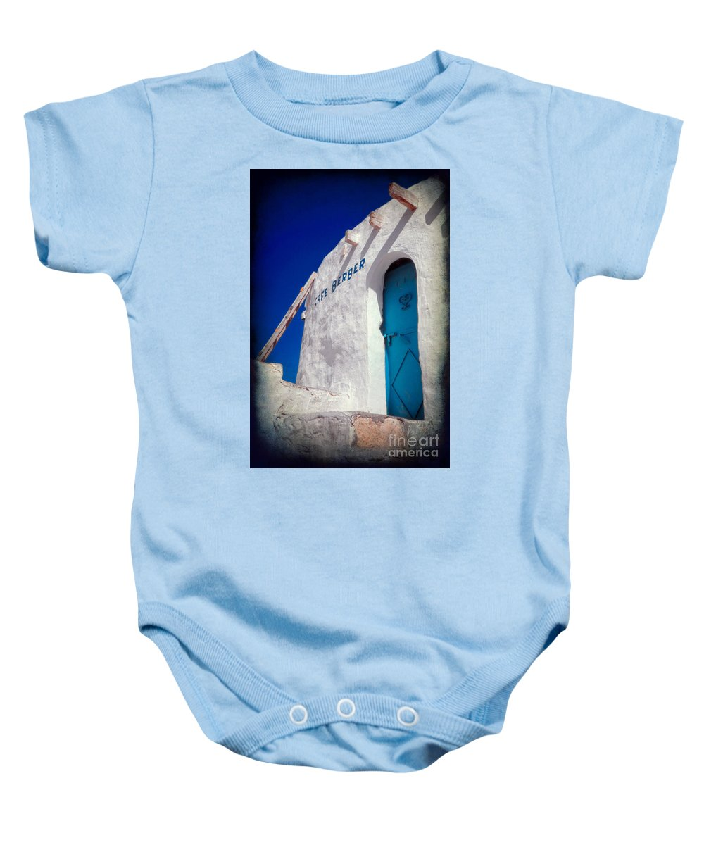 Tunisia Baby Onesie featuring the photograph Cafe Berber by Silvia Ganora