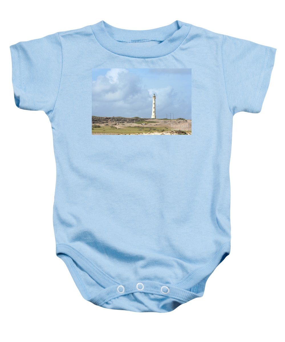 Aruba Baby Onesie featuring the photograph California Lighthouse by Thomas Marchessault