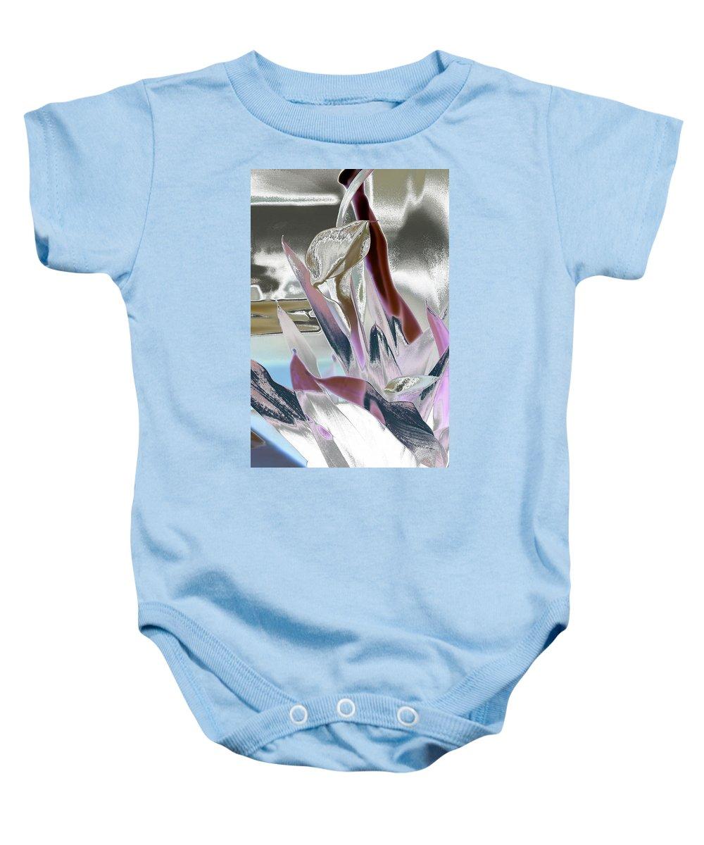 Art Baby Onesie featuring the digital art Calla by Robert Meanor
