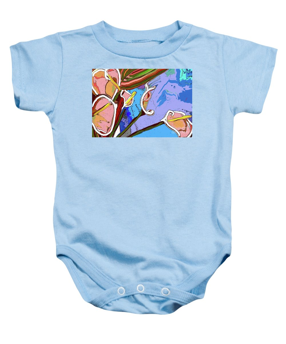 Still Life Baby Onesie featuring the digital art Callalillys by Danny Lowe