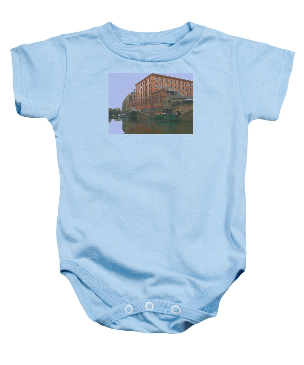 Canal Baby Onesie featuring the photograph camden lock London by Danny Craig