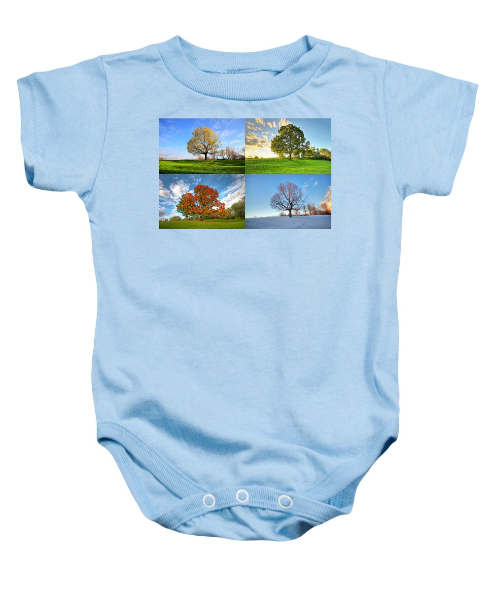 Canada Baby Onesie featuring the photograph Canadian Seasons by Mircea Costina Photography