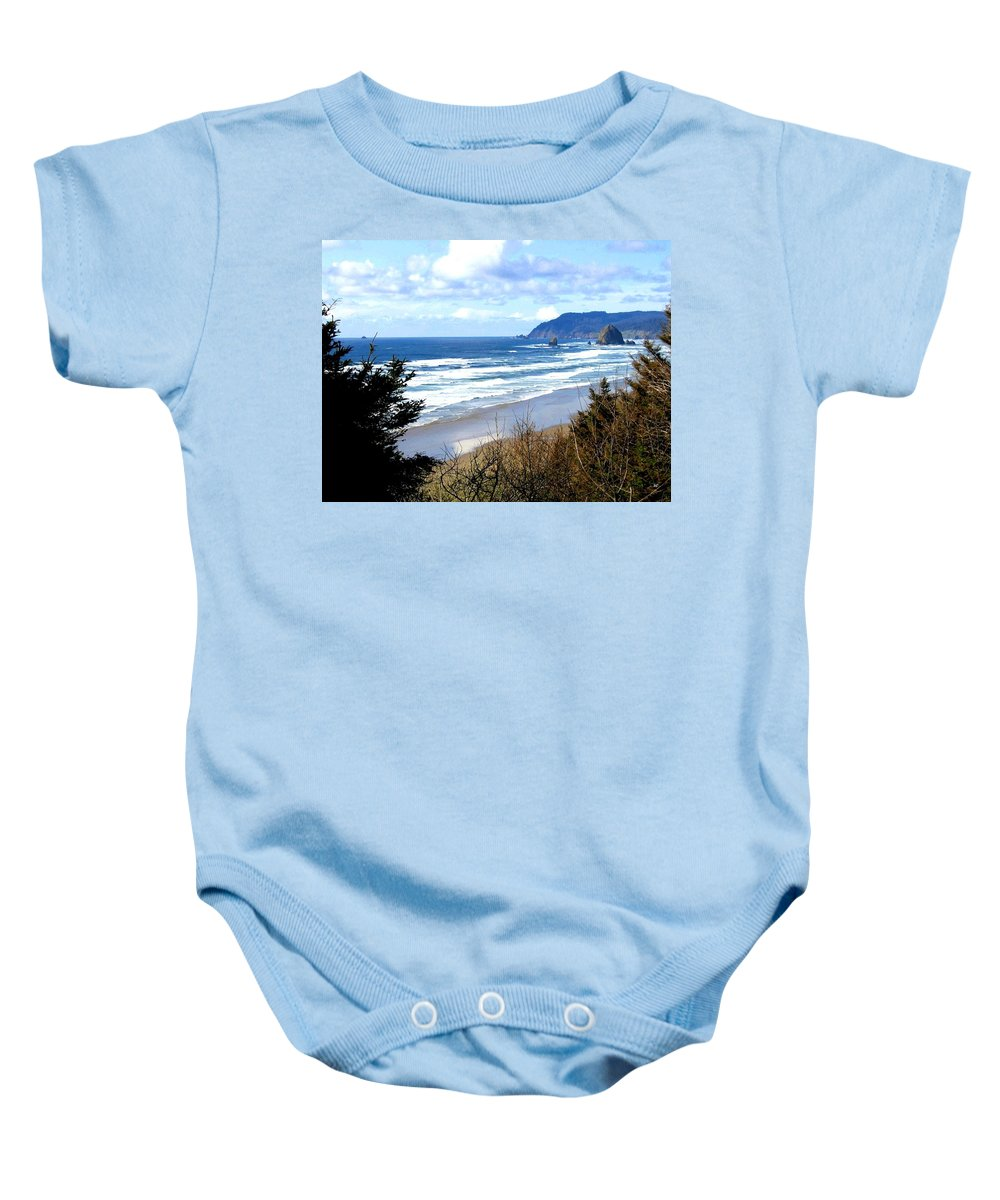 Vista Baby Onesie featuring the photograph Cannon Beach Vista by Will Borden