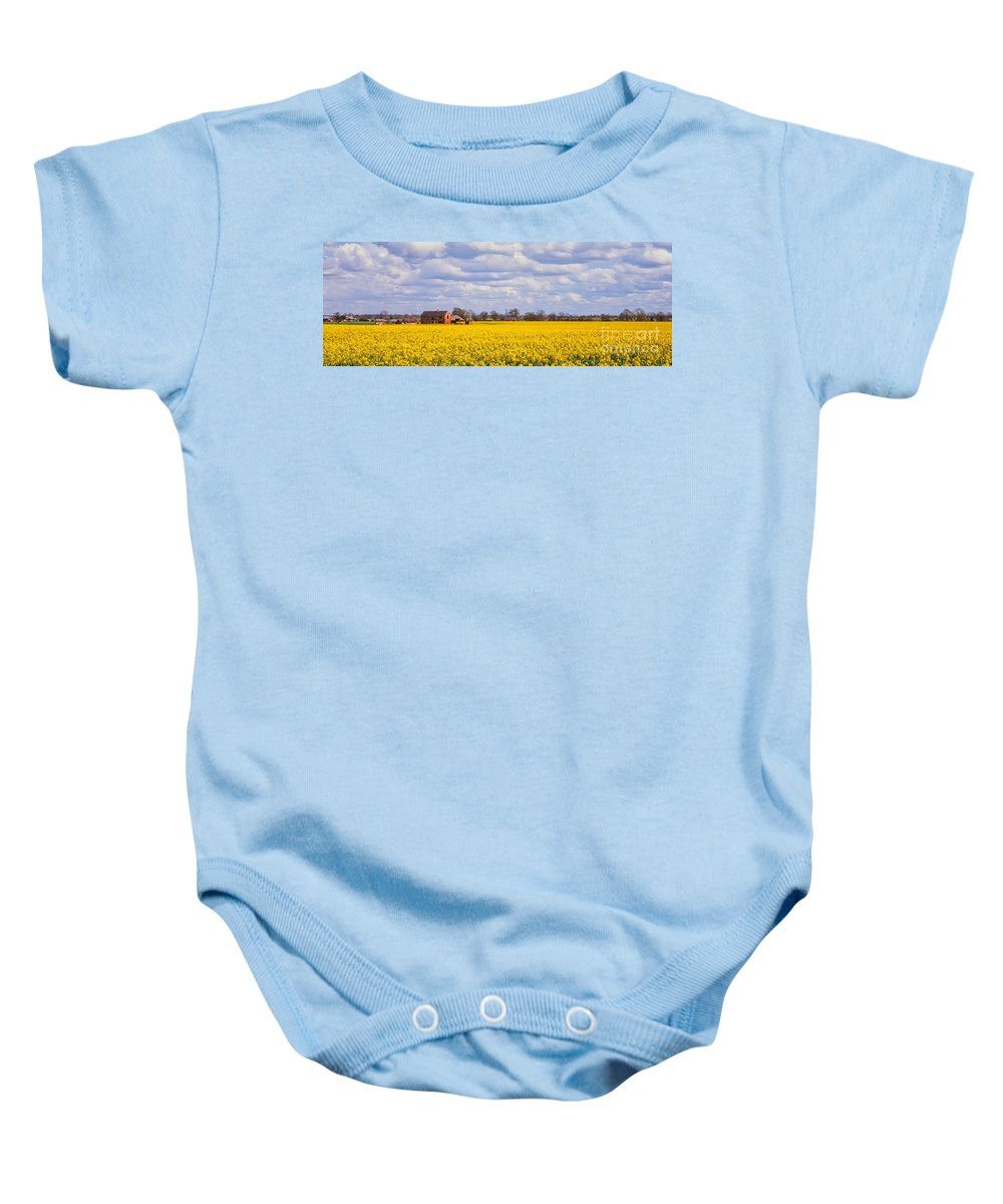 Canola Baby Onesie featuring the photograph Canola Field by John Edwards