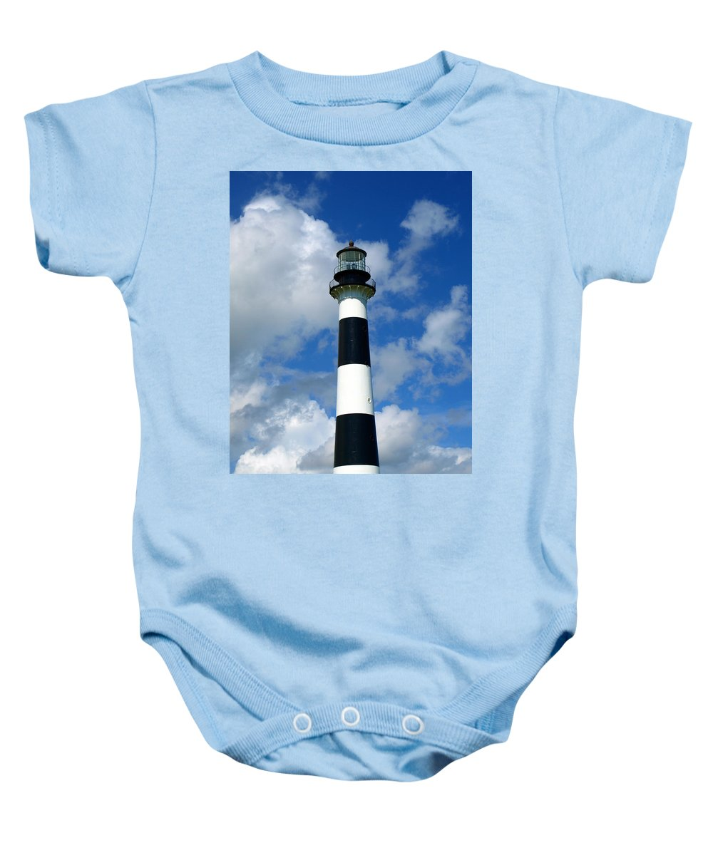 Baby Onesie featuring the photograph Canveral Light by Allan Hughes