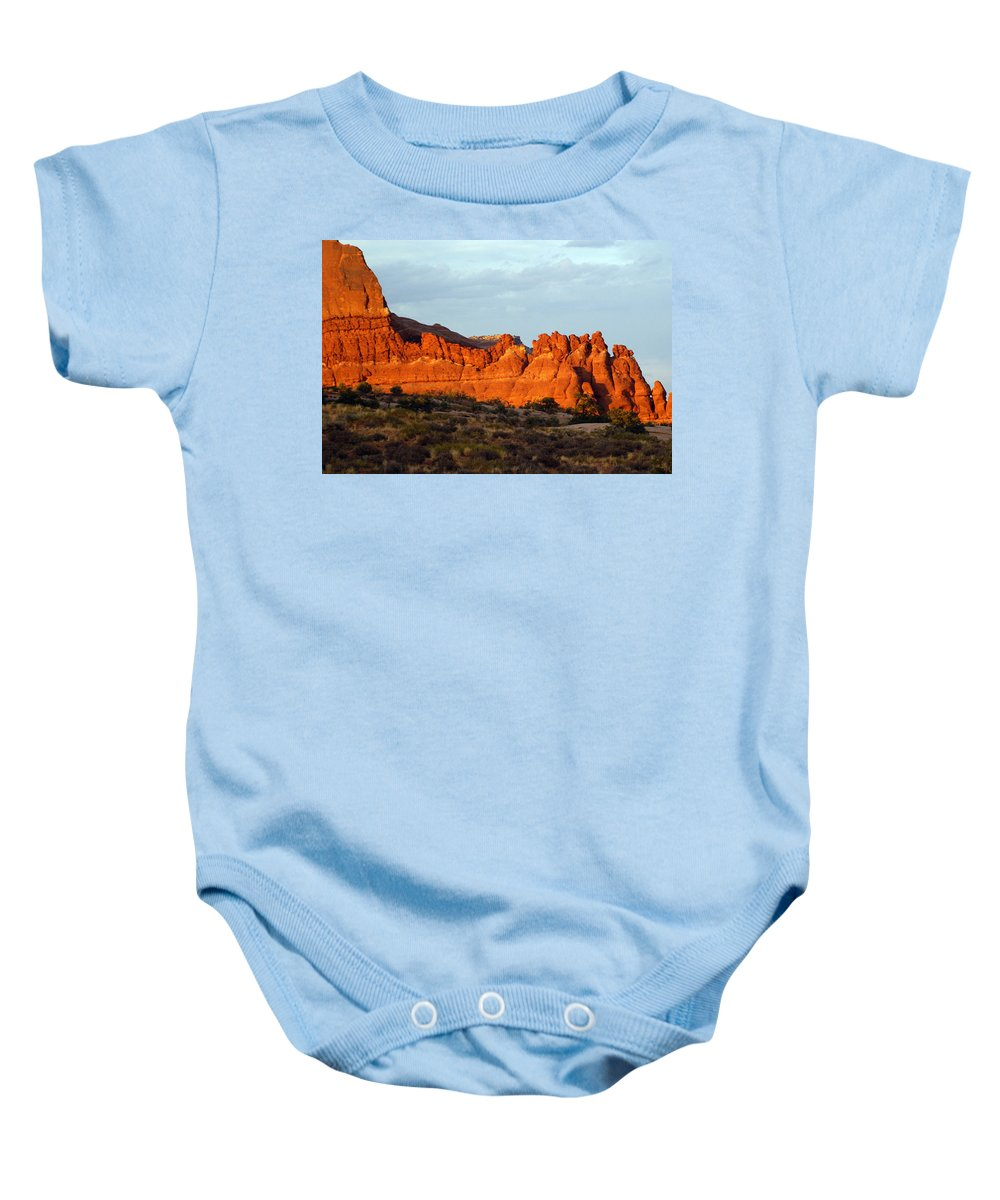 Utah Baby Onesie featuring the photograph Canyonlands At Sunset by Marty Koch