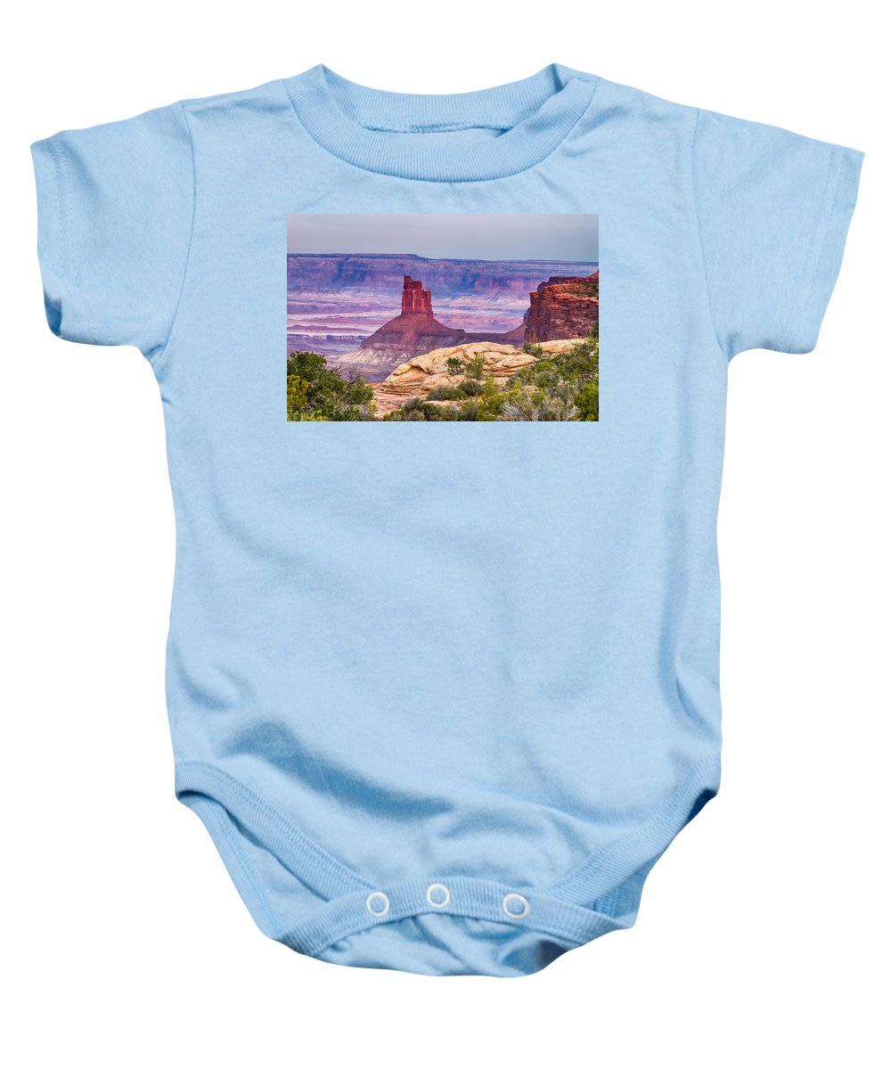 Canyonlands Baby Onesie featuring the photograph Canyonlands Utah Views by James BO Insogna