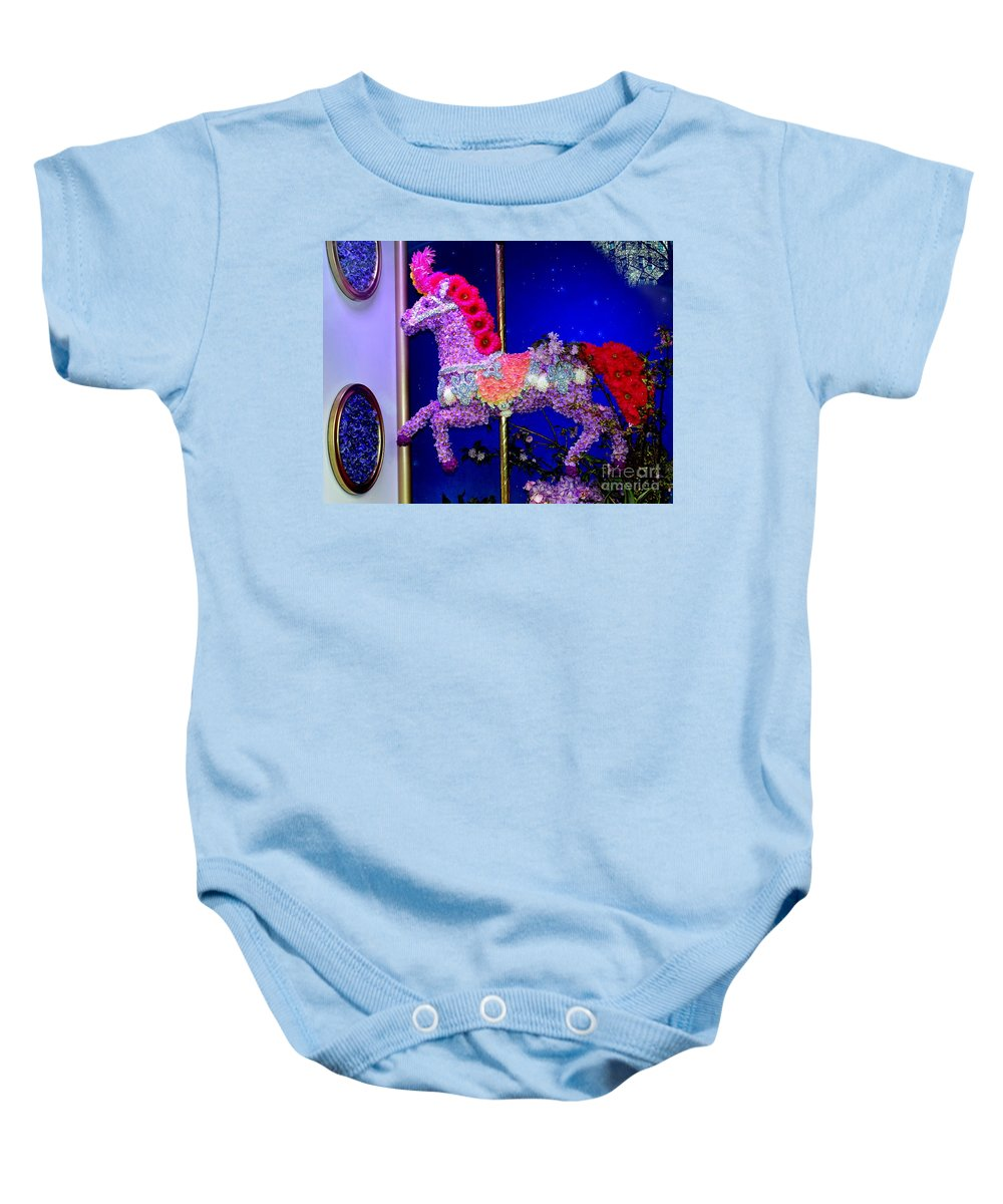Flowers Baby Onesie featuring the photograph Carousel Floral Beauty by Ed Weidman