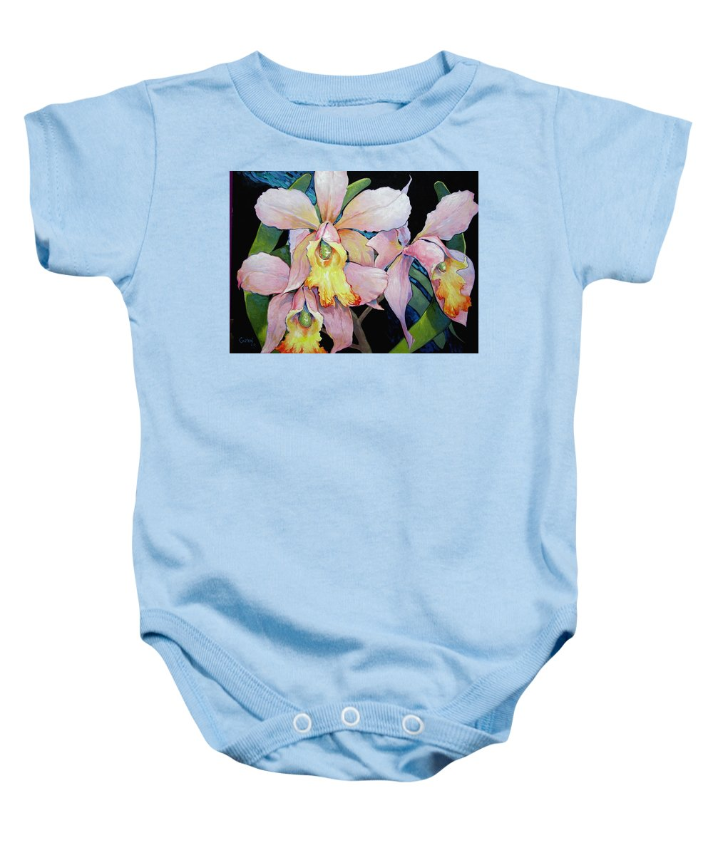 Catalya Baby Onesie featuring the painting Catalya Arrangement by Jerrold Carton