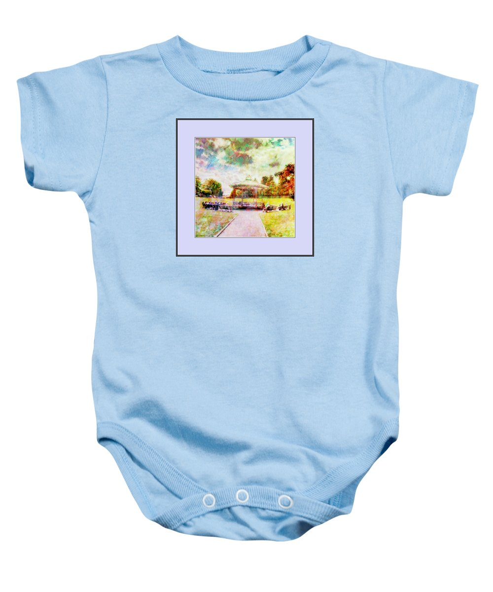 Beamish Baby Onesie featuring the digital art Catching Rays by John Lynch