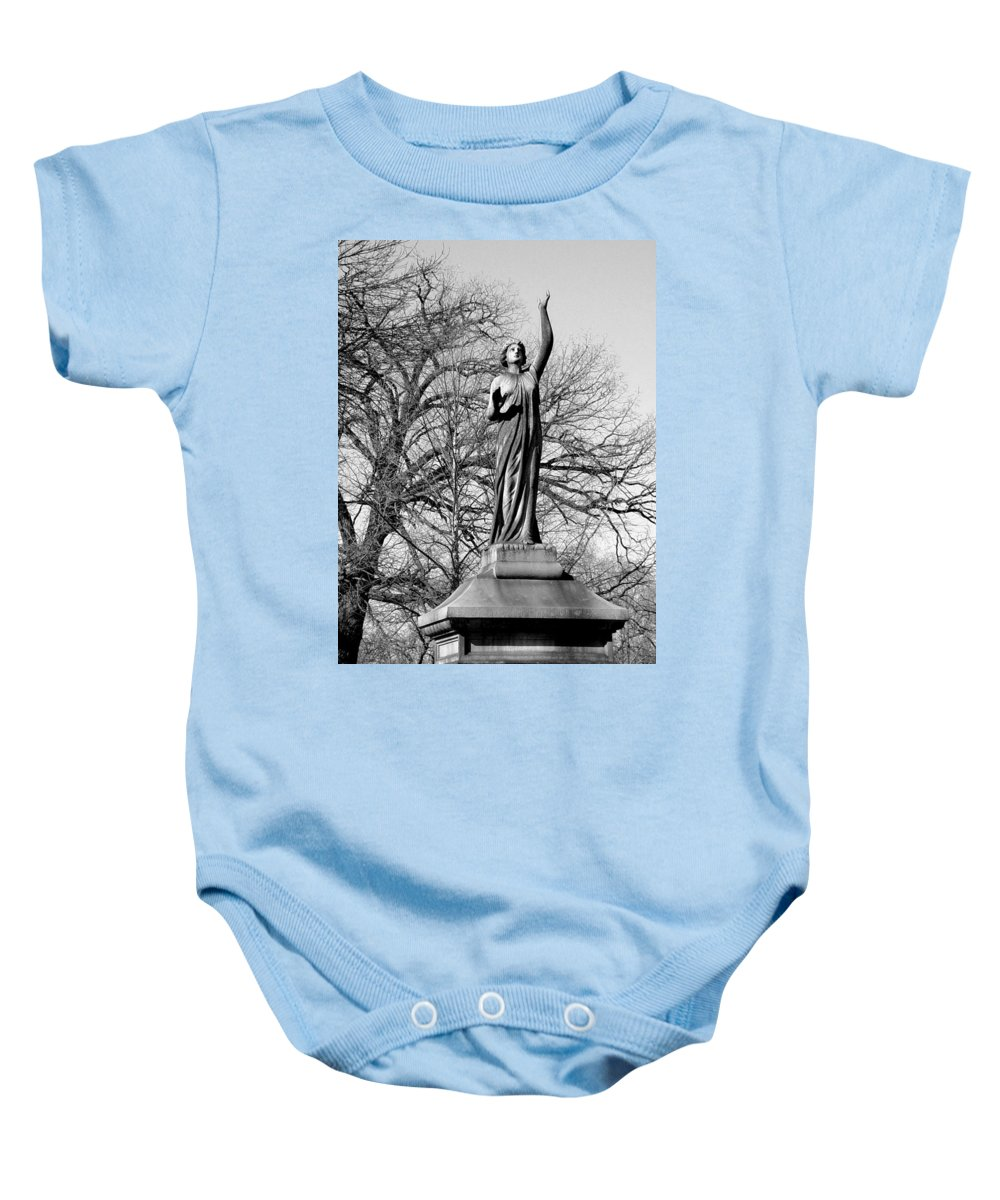 Cemetery Baby Onesie featuring the photograph Cemetery 6 by Anita Burgermeister