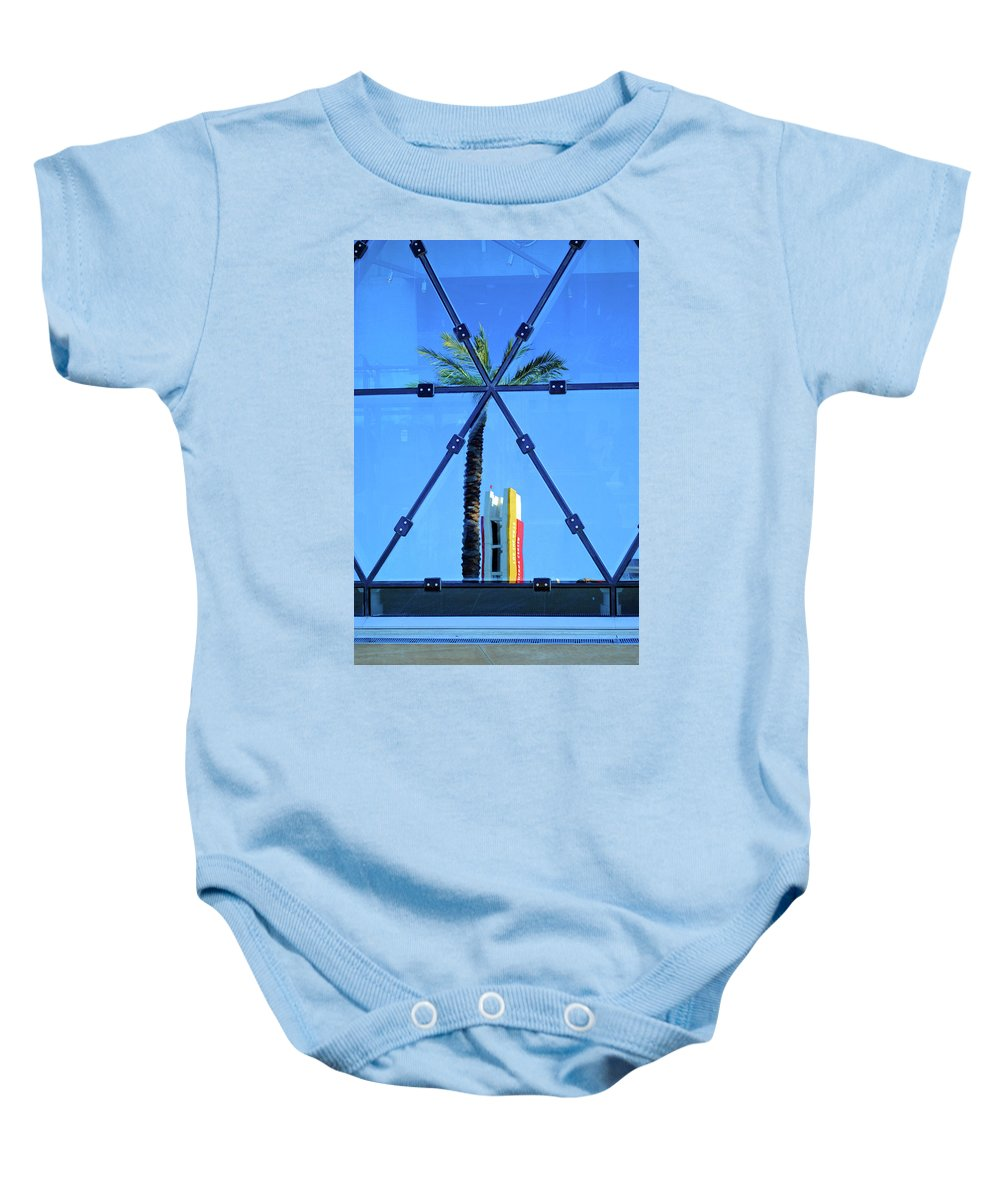 Palm Baby Onesie featuring the photograph Center Of The Palm by Jost Houk