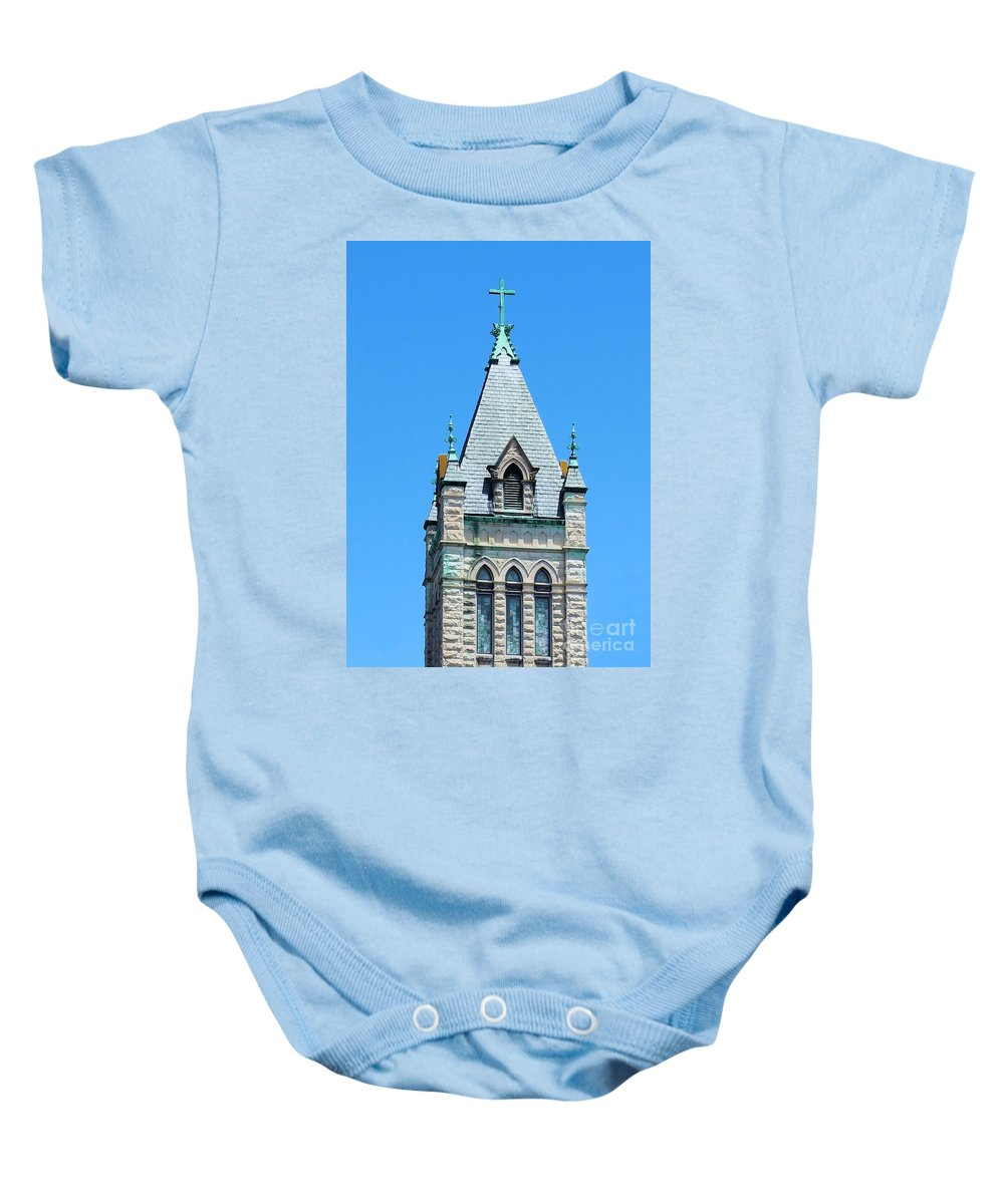 Church Baby Onesie featuring the photograph Central United Methodist Church Of Asheville Nc by Robert Wilder Jr