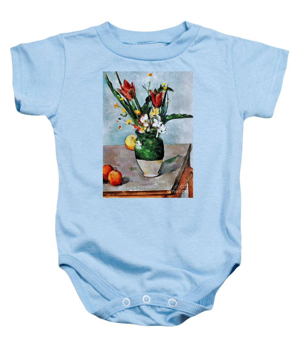 1892 Baby Onesie featuring the photograph Cezanne: Tulips, 1890-92 by Granger