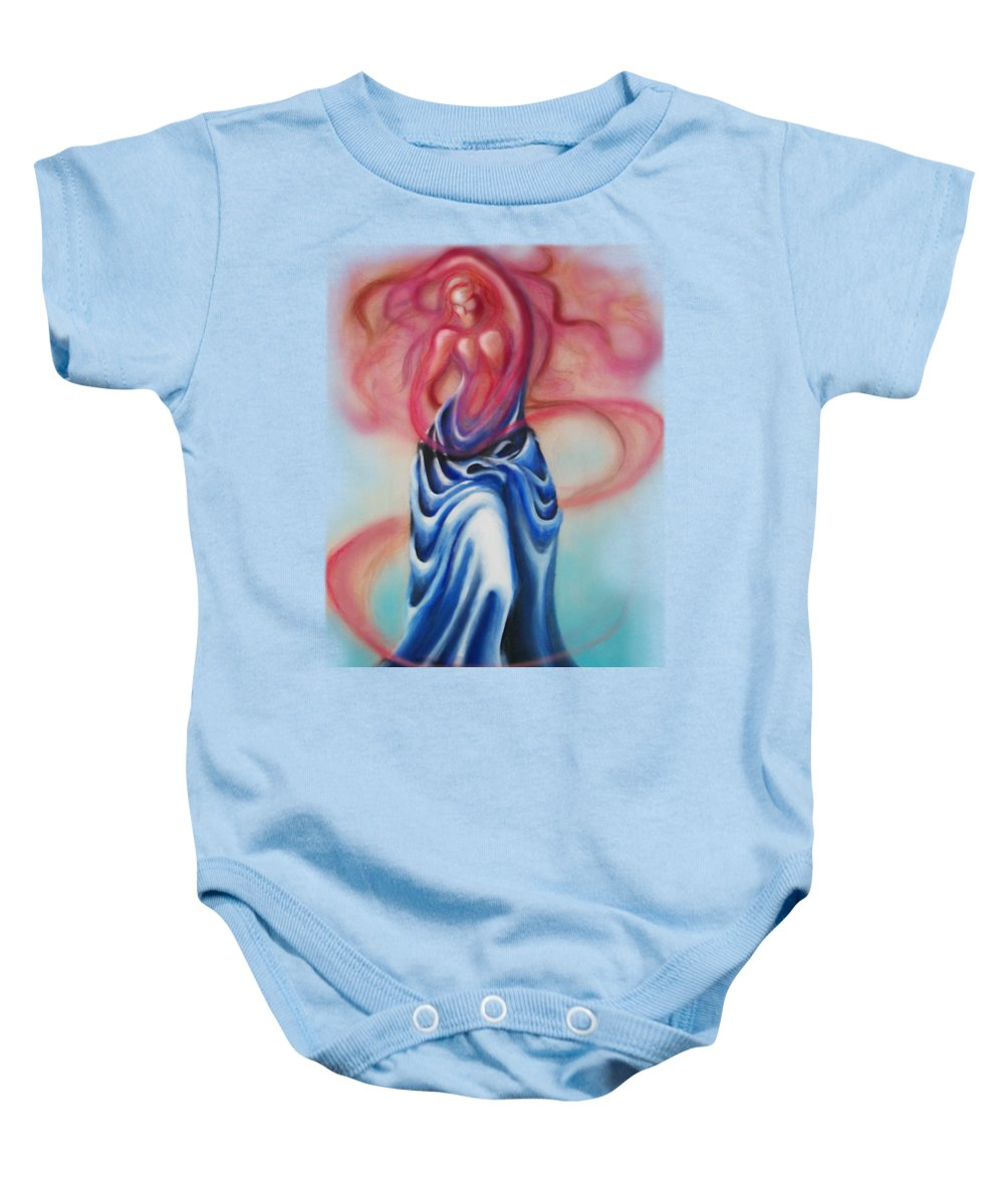 Female Baby Onesie featuring the painting Change by Kevin Middleton
