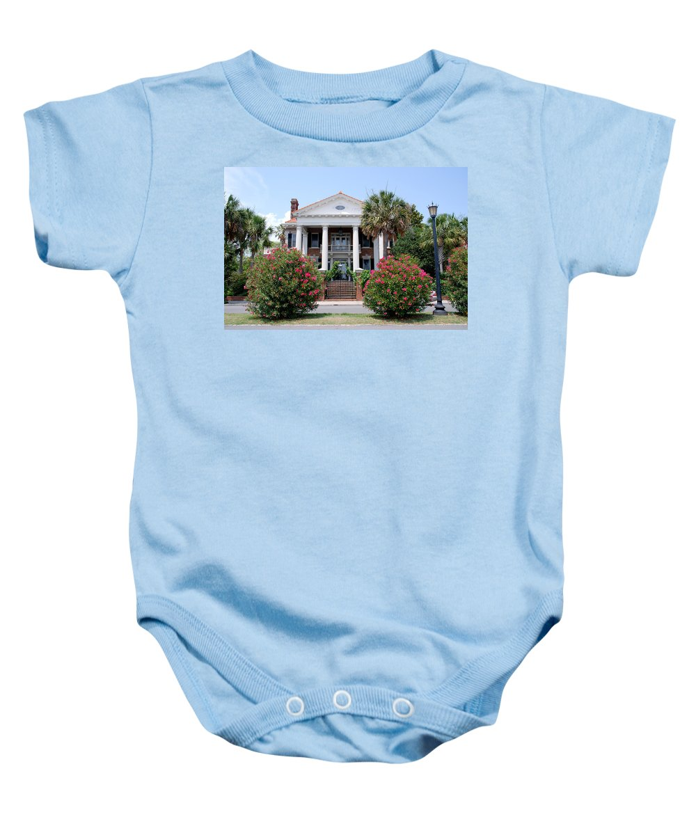 Photography Baby Onesie featuring the photograph Charleston At His Best by Susanne Van Hulst