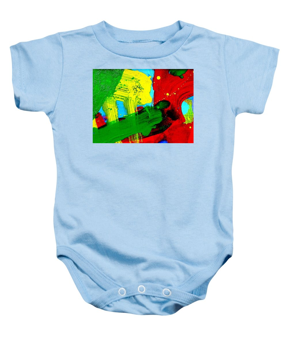 Abstract Baby Onesie featuring the painting Chevron by John Nolan