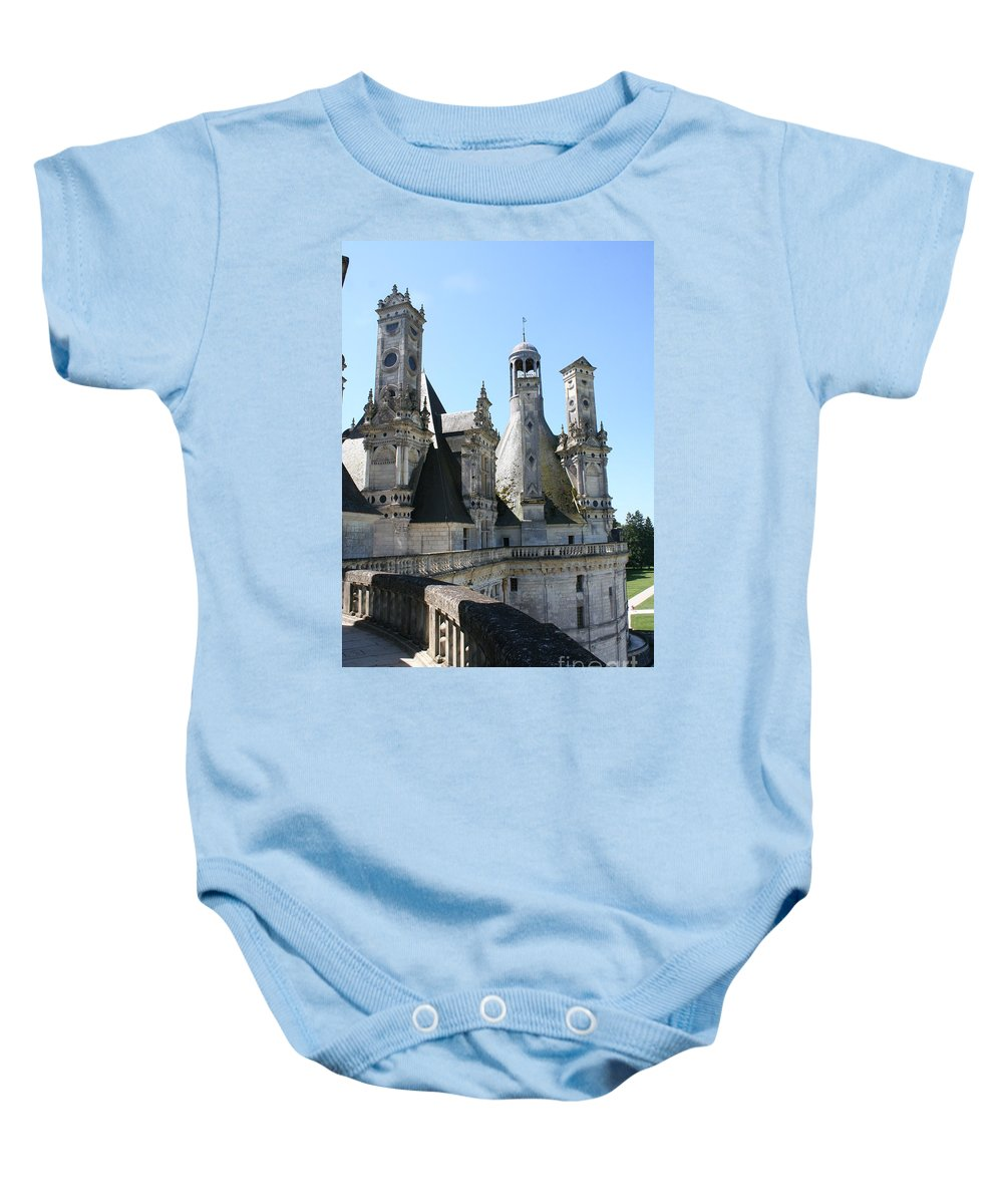 Chimney Baby Onesie featuring the photograph Chimney From Chambord - Loire by Christiane Schulze Art And Photography