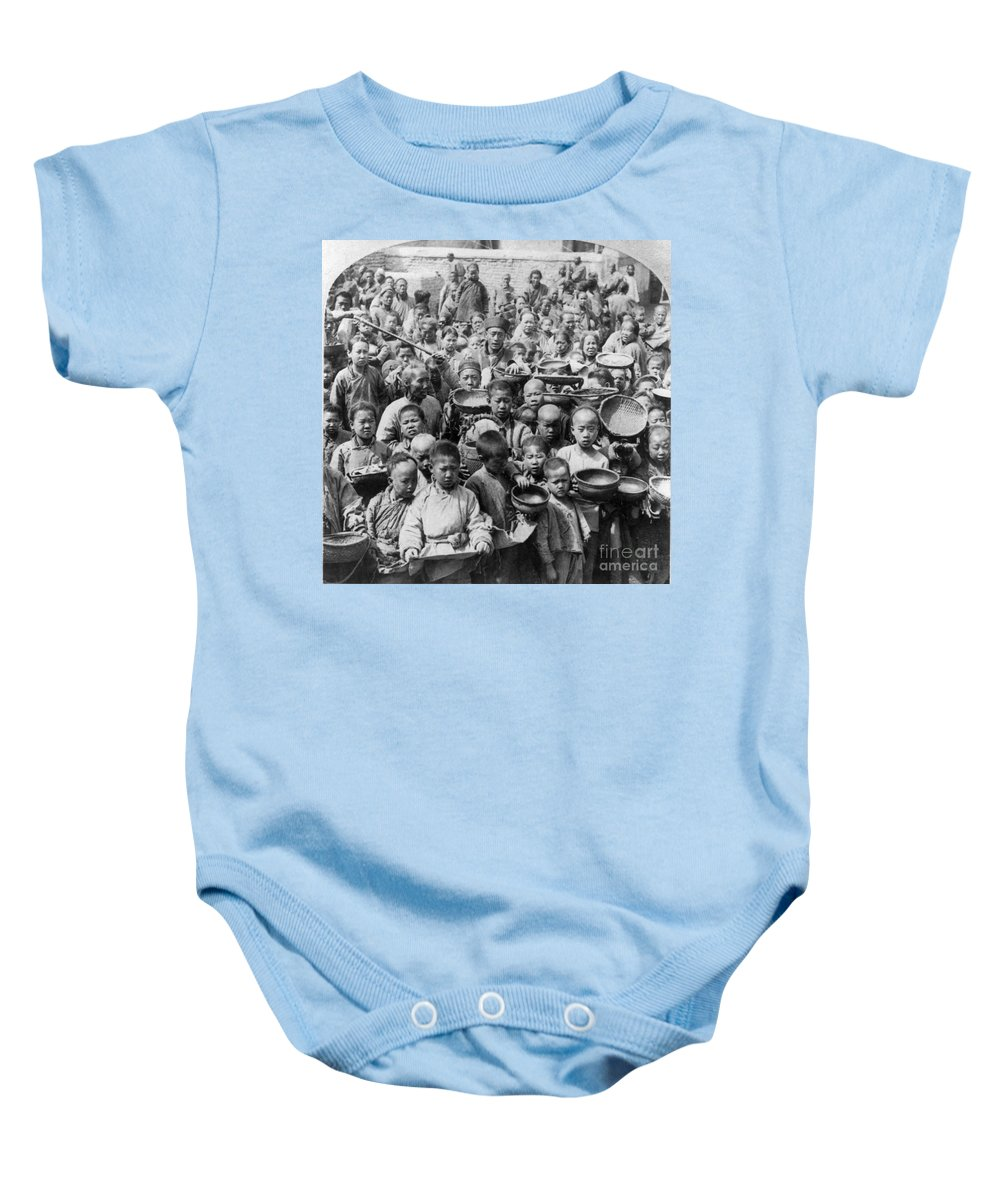 1902 Baby Onesie featuring the photograph China: Peking, C1902 by Granger