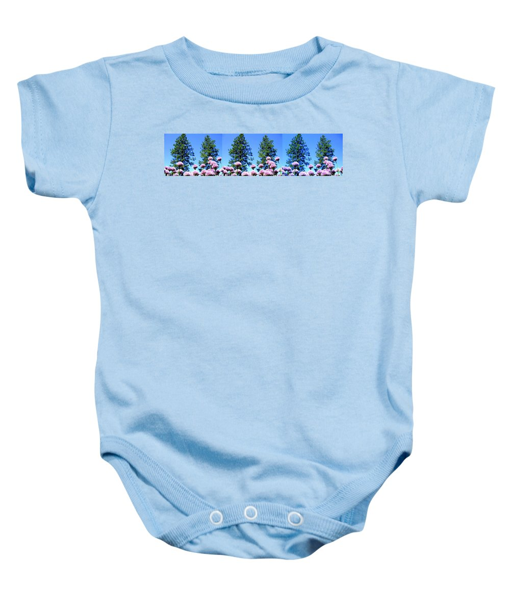 Chives Alive Baby Onesie featuring the digital art Chives Alive by Will Borden