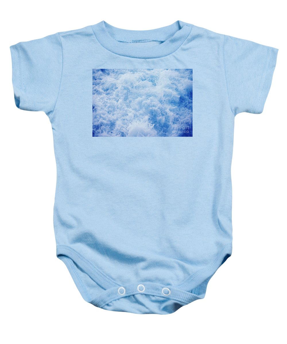 Afternoon Baby Onesie featuring the photograph Churning Water by Greg Vaughn - Printscapes