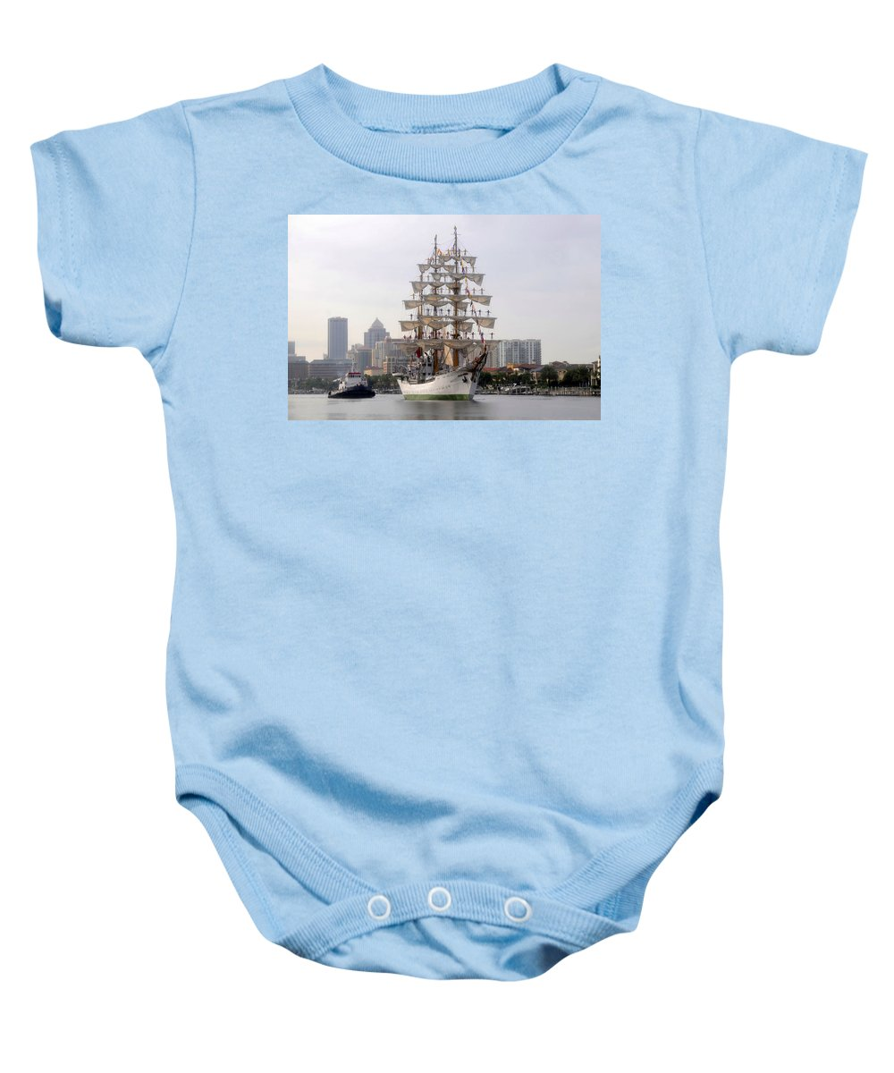 Tampa Florida Baby Onesie featuring the photograph Cigar City Sailing by David Lee Thompson