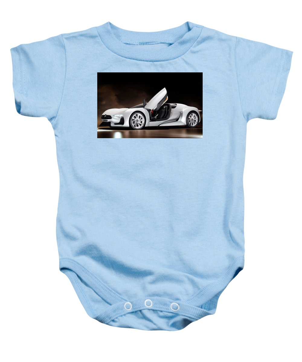 Baby Onesie featuring the digital art Citroen Supercar Concept by Alice Kent