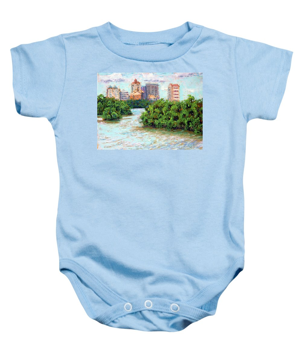 Clam Pass Baby Onesie featuring the painting Clam Pass I by Laurie Paci