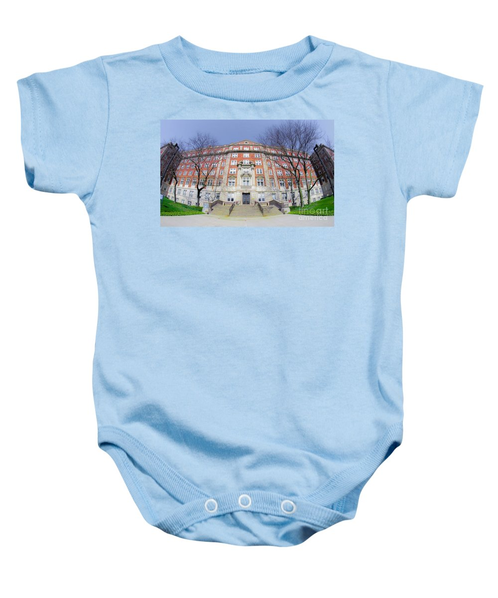 Detroit Baby Onesie featuring the photograph Clara Ford Pavilion by Susan Grube