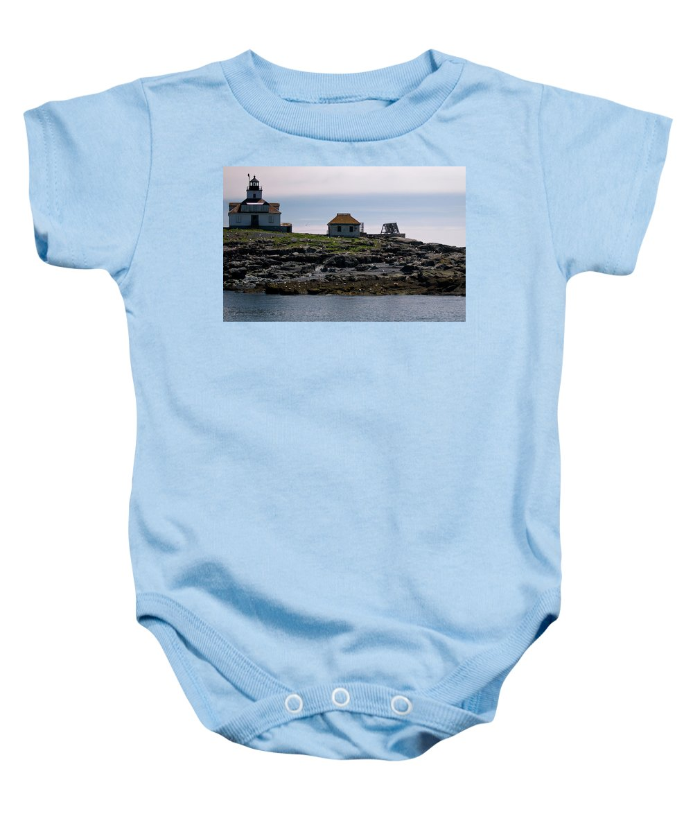 egg Rock Light Baby Onesie featuring the photograph Classic Egg Rock by Paul Mangold
